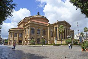 Palermo Sicily Italy Theatre Massimo Monum