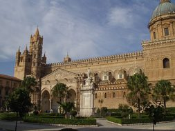Palermo, Town Hall, Building, Old, Italy