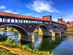 Italy, Pavia, Bridge