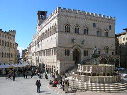 Perugia, Italy, Piazza, City, Road