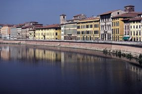 Pisa, Arno, Italy, River, Tuscany, Homes