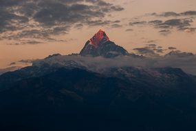 Fishtail Nepal Himalaya Machapuchare Scene