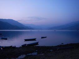 Nepal Pokhara Peace Calm Lake Blue Boat Qu