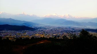 Pokhara, Mountain, Fishtail, Phewa, Asia