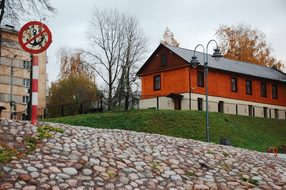 Quay, Stone, Paving Stone, House, Sign