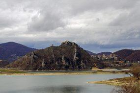 Tora, Castel Di Tora, Lake Turano, Lazio