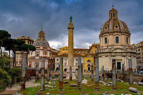 Trajan, Column, Dome, Church, Roman