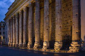 Temple, Antique, Roman, Column, Stone