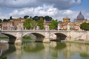 Bridge, River, Tiber, Rome, Basilica