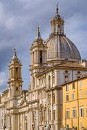 Church, Dome, Place, Piazza, Navona