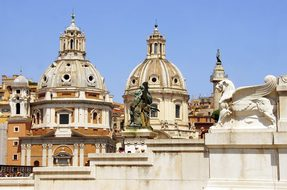 Italy, Rome, Churches, Roofing