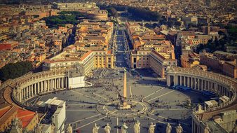Rome The Vatican Italy St Peter'S Square P