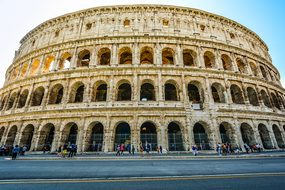 Rome Monument Colosseum Italy Italian Land
