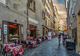 Rome, Roma, Italy, Cafe, Italian