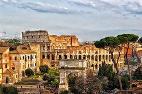 Colosseum Rome City Roman Coliseum Italy A