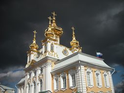 Church, Russia, Saint-Petersburg, Cloud