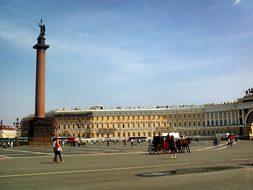 Saint Petersburg Russia Buildings Statue M