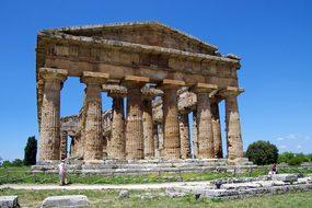 Paestum Salerno Italy Temple Of Neptune Ma