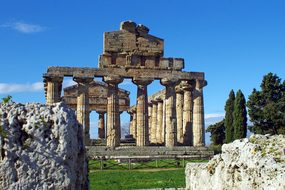 Paestum Salerno Italy Temple Of Athena Mag