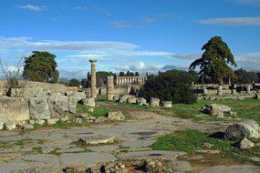 Paestum Via Sacra Archaeology Salerno Ital