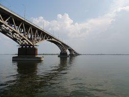 Bridge, Volga, River, Russia, Saratov