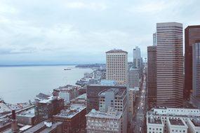 Seattle City Skyline Washington Cityscape