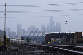 Seattle, Fog, Washington, Northwest, Usa