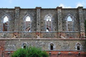 San Galgano, Tuscany, Italy, Abandoned
