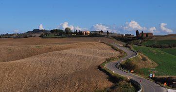 Val D'Arbia Siena Tuscany Italy Landscape