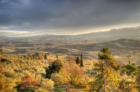 Pienza Tuscany Hdr Val Country Radicofani