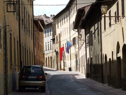 Countryside, Italian, Street, Narrow