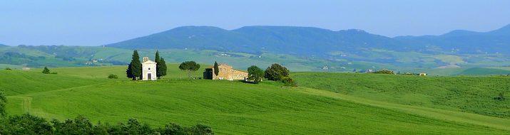 Vitaleta, Tuscany, Landscape, Orcia
