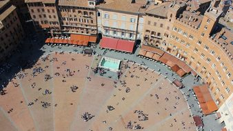 Siena Piazza Middle Ages Architecture Land