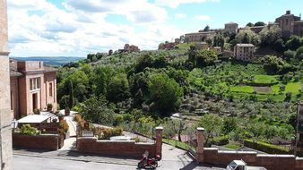 Siena, Tuscany, Park, Garden, Stadtmitte