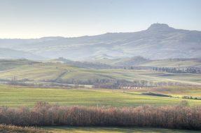 Tuscany, Val, D'Orcia, Italy, Radicofani