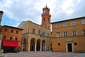 Pienza, Square Pious Pope Ii, Tuscany