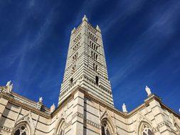Siena, Italy, Duomo, Sky, Stone, Blue