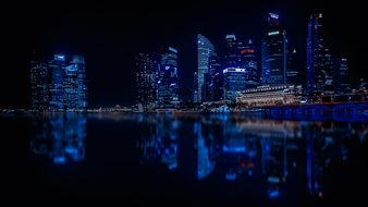 Singapore Skyscrapers City Modern City Arc