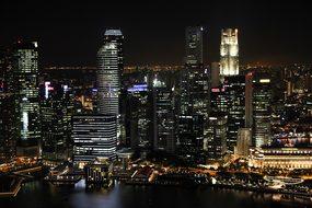 City At Night Lights Skyline Big City Skys
