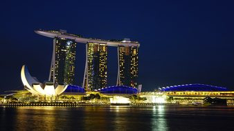 Singapore Marina Bay Sands Landmark Artsci