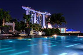Singapore Night Architecture Asia Building