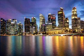 Singapore Marina Bay Merlion Bay Asia Mari