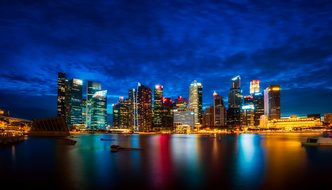 Singapore, City, Urban, Skyscrapers