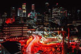 Singapore City Urban Skyline Architecture
