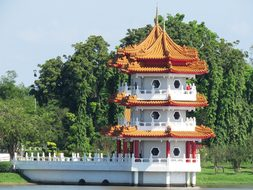 Singapore, Chinese Garden, Afternoon