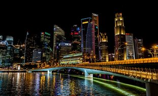 Singapore City Urban Cityscape Skyline Dow