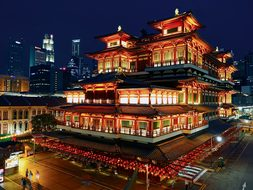 Buddha Tooth Relic Temple Singapore Chinat