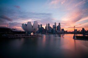 Cbd Marinarea Singapore Building Sky Long