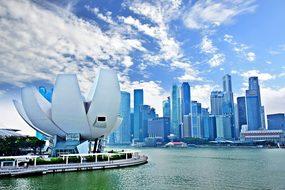 Marina Bay Singapore Ao City Skyscraper Mo