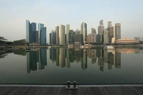 Cbd Centralbusinessdistrict Singapore Lake